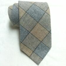 House of Lee Vintage Wool Necktie Plaid Brown Grey Made in Montana EUC Rare