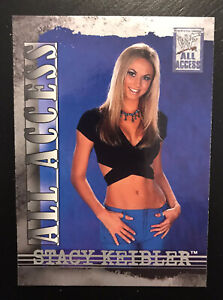 2002 Fleer WWF All Access STACY KEIBLER Rookie Card #42 RC WWE Wrestling