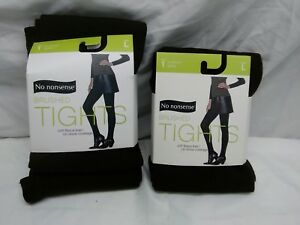 No Nonsense 2 Pair of Brushed Fleece Lined Tights Espresso Large