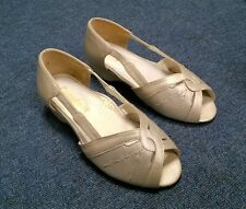 Womens Cosyfeet Diana Slip On Dress Shoes Champagne Pearl Extra Wide Fit 3 UK