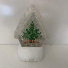 Snow Globe Christmas Tree Battery Powered Light Display