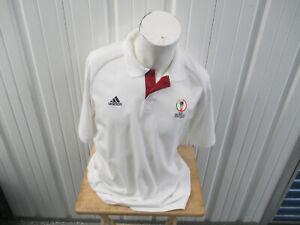 VINTAGE ADIDAS 2002 FIFA WORLD CUP KOREA JAPAN LARGE SEWN COLLAR POLO SHIRT NWT