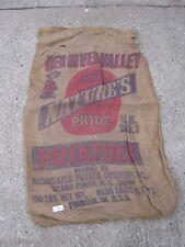 Grand Forks N. D. Red River Valley Vintage Nature's Pride Potatoes burlap sack