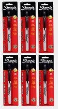6sharpie Retractable Black Fine Tip Permanent Marker No Cap 1pk Non Toxic 32721