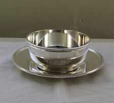 Finger Bowl & Saucer with Bead Pattern, Applied Border