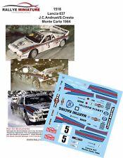 Decals 1/24 réf 1516  Lancia 037 J.C.Andruet/S.Cresto Monte Carlo 1984