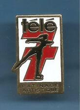 Pin's pin TELE 7 JOURS PATINAGE ARTISTIQUE (ref 038)