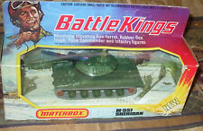 1975 Matchbox Lesney Battle Kings K-109 M551 Sheridan Tank On Unpunched Box N/MT