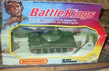 1975 Matchbox Lesney Battle Kings K-109 M551 Sheridan Tank On Unpunched Box N/MT