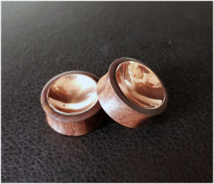 SONO WOOD AND COPPER EAR PLUGS SADDLE FIT STRETCHER TUNNELS 10MM - 25MM
