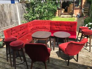 Booth Fixed Seating Stools Chairs And Table Home Bar/Pub/Bar/Restaurant/Man Cave