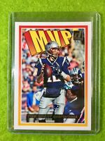 TOM BRADY FOOTBALL INSERT CARD JERSEY #12 PATRIOTS SP 2018 Panini Donruss MVP SP