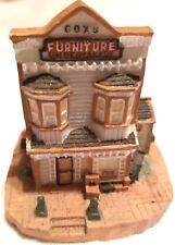 """Village Cox Furniture Undertakers Ah38 3"""" Tall Town Christmas Collectible 1993"""