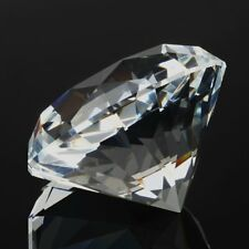 60mm Crystal Clear Paperweight Cut Glass Giant Diamond Jewel Decor Gift