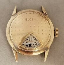 ELGIN GOLF BALL WATCH 17 JEWELS REF. 717 USA ADJUSTED 30mm 10K RGP BEZEL