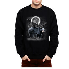 Black Bear Hunting Mens Sweatshirt S-3Xl