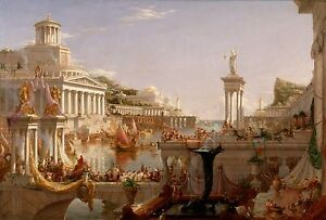 Oil painting Thomas cole - The Course of the Empire The Consummation cityscape