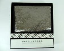 New Mark Jacobs for Neiman Marcus Target Metallic Leather Pouch Clutch Bag Pewte