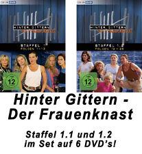 6 DVDs * HINTER GITTERN - DER FRAUENKNAST : STAFFEL 1.1 + 1.2 IM SET # NEU OVP §