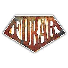 RUSTY FUBAR car sticker vw ratlook sticker car decal 150mm wide