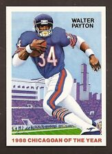 1988 Walter Payton Chicagoan of the Year Football Card