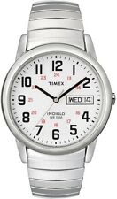 Timex T20461, Easy Reader, Men's, Silvertone Expansion Watch, Indiglo, T204619J