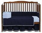Baby Mini Crib Reversible Bedding Set Fitted Pillowcase Skirt Comforter Bumper