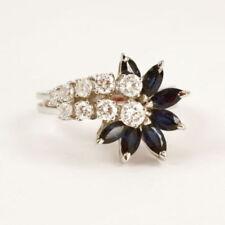 Anelli di lusso oro bianchi zaffiro , Misura anello 16