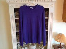 CREW CLOTHING MENS COTTON JUMPER HEATHER COLOUR MEDIUM VGC