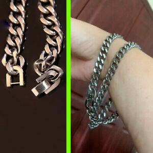 Pure Titanium Clavicle Chain Bracelet Pendant Anti-allergy Necklace 55cm Chain