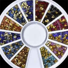 DIY Mixed Nail Art Rhinestone Tips Glitter Design Colorful Crystal Decorations