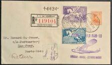 Uruguay First Flight Cover Fam 10 Montevideo San Juan Puerto Rico 1931