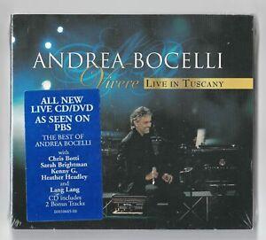 Andrea Bocelli - Vivere,Live In Tuscany (CD & DVD Digipak - NEW & SEALED) (2008)
