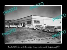 OLD LARGE HISTORIC PHOTO OF TURELLA NSW, THE STREETS ICE CREAM FACTORY c1950