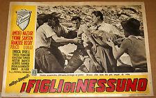 fotobusta film I FIGLI DI NESSUNO Amedeo Nazzari Enrico Olivieri Matarazzo 1951
