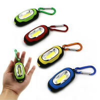 1 Flashlight Keychain Portable COB LED Carabiner Camping Light Hiking Torch Gift