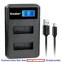 Kastar Battery LCD Dual Charger for Eken PG1050 & Eken H8 Eken H8 Pro Camera