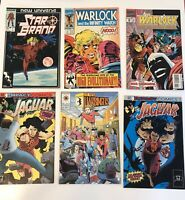 Vintage  Mix Comic Books Lot Of 6/ Star Brand /warlock/ Jaguar And More...