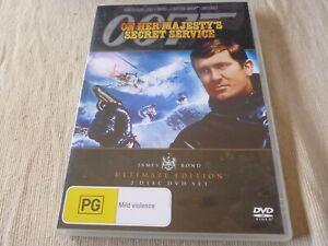 On Her Majesty's Secret Service - Ultimate Ed (DVD, 2006, 2-Disc Set) Region 4