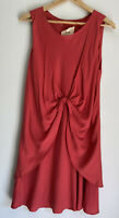 BUL Red Tie Front Sleeveless Dress Size 8 10