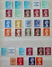 GB Machin Stamp Collection of 15 Se-tenant Pairs from Booklets- Unmounted Mint