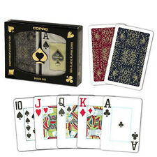 New COPAG 100% Plastic Playing Cards Script Red Blue Bridge Jumbo Index FREE CUT