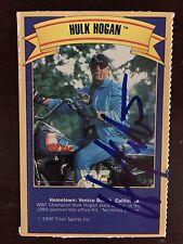 RARE Hulk Hogan Signed WWF 1990 Gold Bond Ice Cream Wrestling Card WWE HOF