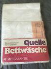 Vintage Bettwäsche 4-teilig weiß Baumwolle floral Damast OVP