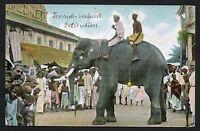 Dutch East Indies Old Vintage Postcard Indonesia Ethnic Types Elephant Nice
