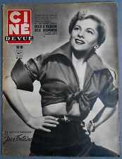 ►CINE REVUE 8/1950-JOAN FONTAINE-RICHARD CONTE-JEAN GABIN-DIRK BOGARDE-MONROE...