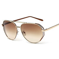 Women's Retro Designer Mirrored Sunglasses Eye Glasses Shades Eyewear Fashion