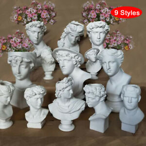 Creative Portrait Human Head Vases Ornaments Resin David Home Art De`sf