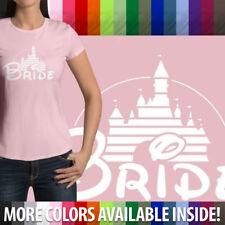 Bride Disney Wedding Marriage Honeymoon Disneyland Womens Junior Top Tee T-Shirt