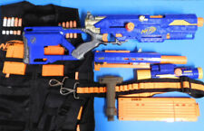 Nerf Long Strike Gun Blaster Magazines Scope Tactical Vest  Bandolier  Bipod Lot